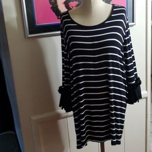 LANE BRYANT STRIPED BLOUSE 4X